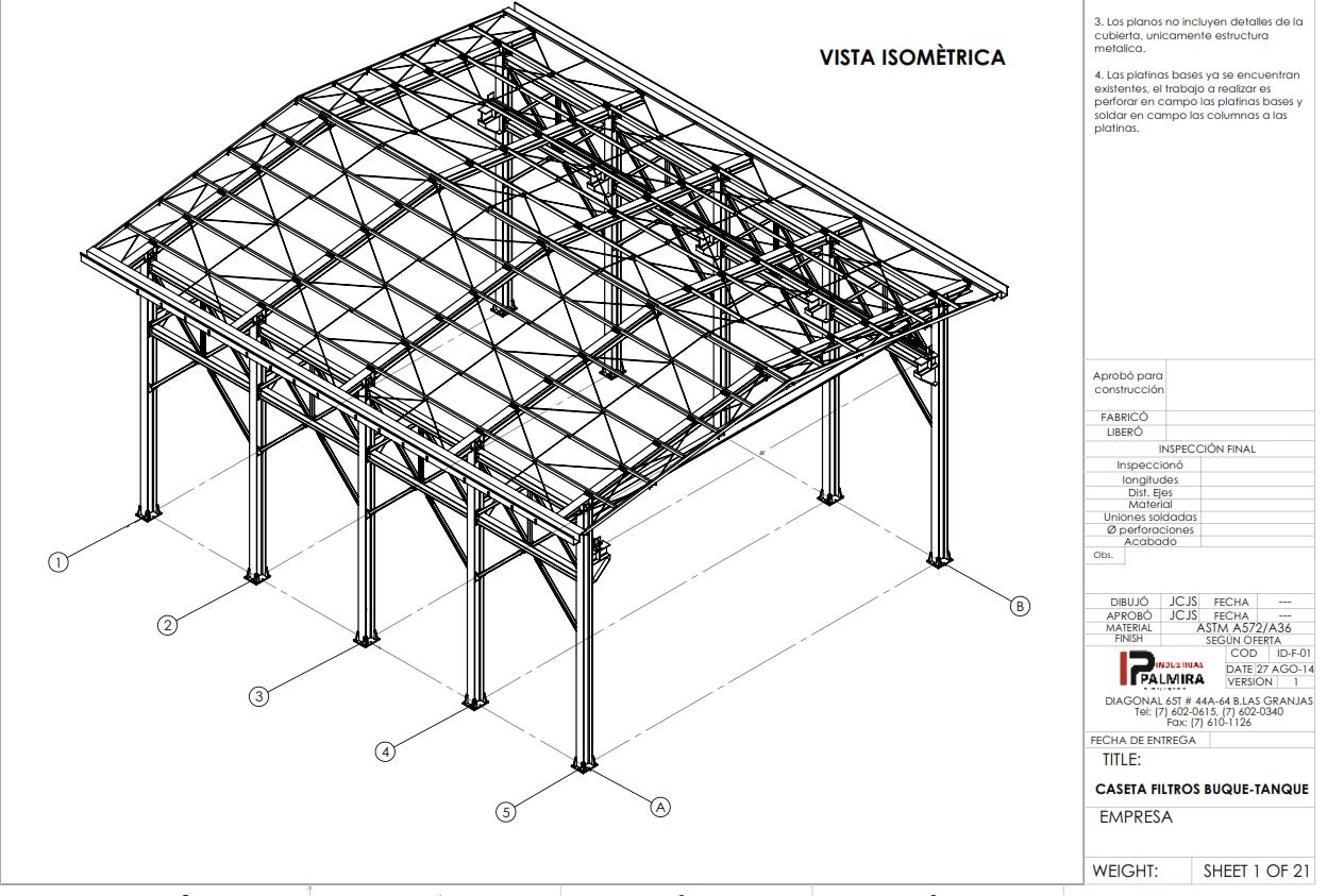 Modelo Y Planos De Taller Industrias Palmira